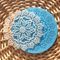 Snowflake Silicone Baking Mold, Mold size 5x5 inch, Finished Lace Size 4x4 inch