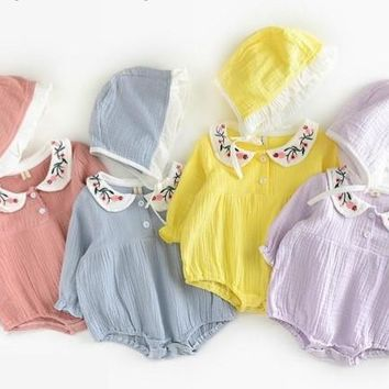 Baby Girls Embroidered Bodysuits