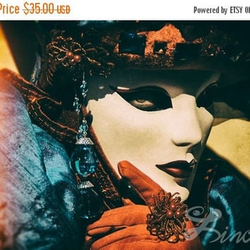 "ON SALE Extra Large Art Print ""Enigmatic"" 13""x19"" - Venetian Carnival Photography"