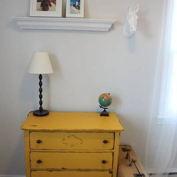 Yellow rustic Antique/Vintage Dresser by neverwasteleftovers