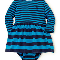 Ralph Lauren Childrenswear Baby Girls Striped Knit Dress and Bloomer Set