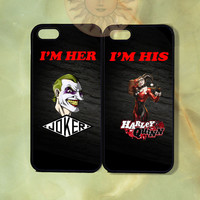 Harley Quinn and Joker Couple Cases iPhone 5, 5s, 5c, 4s, 4, ipod touch 4, 5, Samsung GS3 GS4-Silicone Rubber, Hard Plastic cover