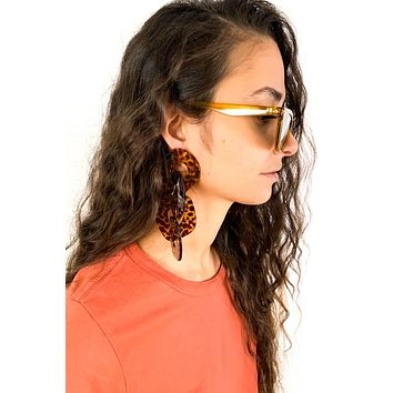 Speckle Chain Link Earrings