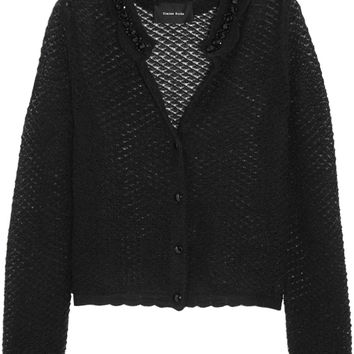 Simone Rocha - Embellished open-knit mohair-blend cardigan