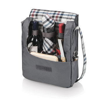Britannia-Carnaby Street Two Bottle Wine Tote with Wine and Cheese serv. f/2