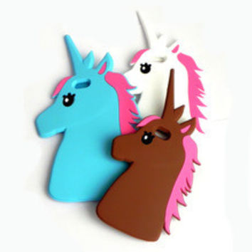 3D Unicorn Soft  Case For iPhone