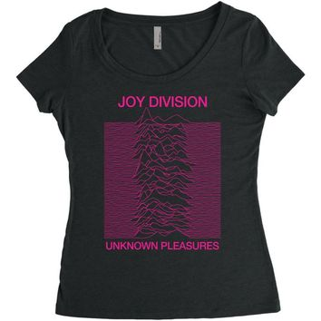 Joy Division Unknown Pleasures Women's Triblend Scoop T-shirt