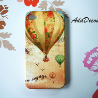Hot  Air Balloons - iPhone 4 Case , iPhone 4s Case , iPhone 3g , 3gs , iPhone Case , Case Handmade