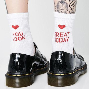"""""""You Look Great Today"""" Socks"""