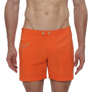 "5"" Lido Solid Stretch Tailored Swim Trunk"