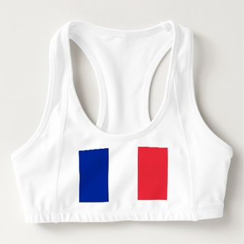 Women's Alo Sports Bra with flag of France