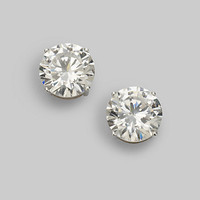 Sterling Silver 4 Carat Stud Earrings