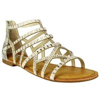 Not Rated Radiant Bling Gladiator Sandals in Cream