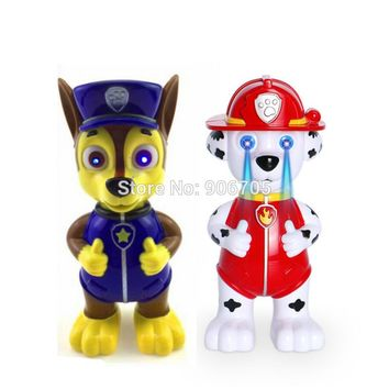 English Touch Control story Music Smart talking Marshall dog toys learning machine educational toys recording doll with light