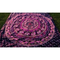 Camel Elephant Pink mandala bedspread throw wallhanging – TheNanoDesigns
