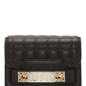 Proenza Schouler Black Leather New Lamm Quilted Bag