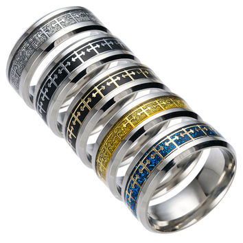 Stainless Steel Ring Jewelry Vintage Hot Sale Cross Titanium Men Rack [10059712195]