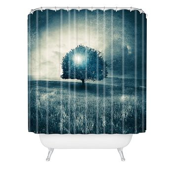 Viviana Gonzalez Energy From The Blue Tree Shower Curtain