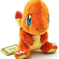 "New 4"" CHARMANDER Pokemon Rare Soft Plush Toy Doll/PC1654"
