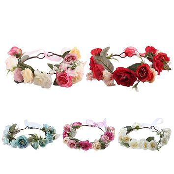 Infant Kids Rose Flower Baby Hairband Headband Seaside Head wear Newborn Photo Props Baby Girl Hair Accessories