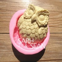 3D M0334 Owl fondant cake molds soap chocolate mould for the kitchen baking = 5658083905