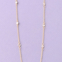 Tiny Clear Rhinestones Dainty Choker Necklace - Gold or Silver