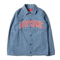Supreme Fall Winter 13 Denim Coaches Jacket - Fuck This Hype