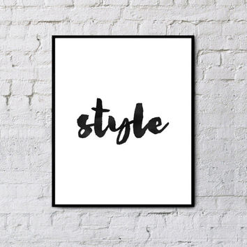 "watercolor art""Style""Inspirational quote,Life and style,Modern wall decor,Home decor,Motivational poster,Word art,Typography art"