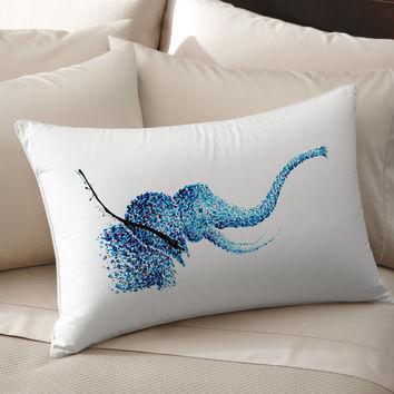 4K Unique Elephant Art pillow cover 100% cotton handmade silk Decorative pillow case pillowcase cushion cover Bedroom Present gift