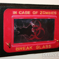In Case Of ZOMBIES Biohazard Key Hanger  Walking by DeeplyDapper
