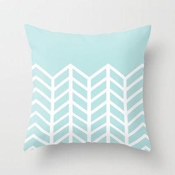 TIFFANY CHEVRON Throw Pillow by nataliesales