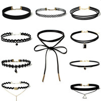 10Pcs Womens Boho Necklace Choker +Gift Box