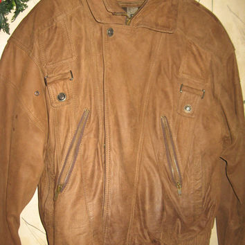 Vintage Pilot Aviator Brown Wilson's Leather Thinsulate Adventure Bound Originals Bomber Jacket M