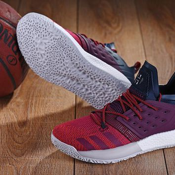 DCCK A150 Adidas James Harden Vol.2 Boost Training Basketball Shoes Wine Red