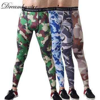 Breathable Compression Jogging Leggings Camouflage Printed Men Running Tights Fitness Basketball Sportswear Large Size 3XL