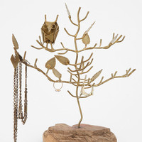 Owl Branch Jewelry Stand