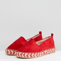 Glamorous Flatform Espadrille in Red at asos.com