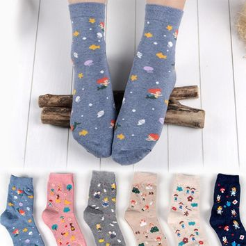 Animal Cat Rabbit Mermaid Socks Funny Crazy Cool Novelty Cute Fun Funky Colorful