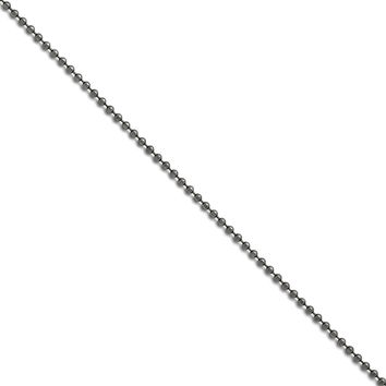 Stainless Steel Ball Beaded Chain Necklace - 2.4mm Lobster Claw