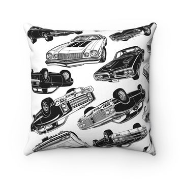 Muscle Car Mania Square Pillow Case