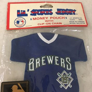 RETRO SPORTS JERSEY MILWAUKEE BREWERS BACKPACK ACCESSORY KEYCHAIN SHIPPING