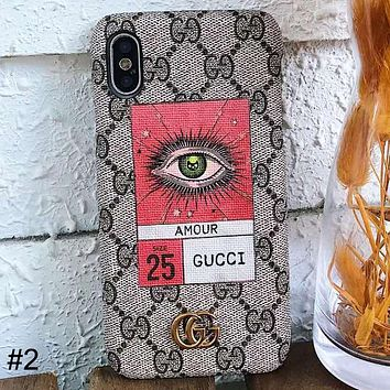 GUCCI Tide brand simple wild couple models iPhone6s mobile phone case cover #2
