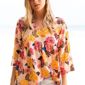 ACACIA Swimwear 2019 Munich Silk Top in Retro Paradise