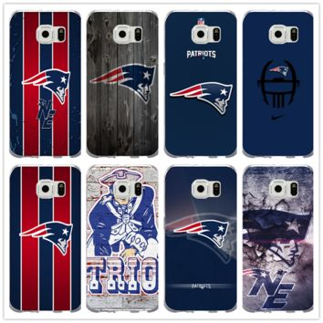Fashion New England Patriots Logo Soft Silicone Coque Shell Phone Cases for Samsung Galaxy S4 S5 S6 S7 Edge S8 S8Plus S9 Case