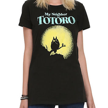 Studio Ghibli Her Universe My Neighbor Totoro Moon Silhouette Glow-In-The-Dark Girls T-Shirt
