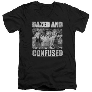 Dazed And Confused - Rock On Short Sleeve Adult V Neck