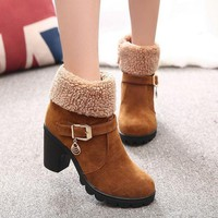 ca ICIKTM4 On Sale Hot Deal Winter Round-toe High Heel Plus Size Dr. Martens Boots [11192771399]