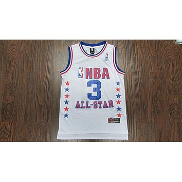 Philadelphia 76ers #3 Allen Iverson NBA Basketball Jersey Retro White All-Star Jersey