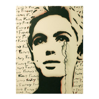 EDIE Sedgwick FACTORY FATALITY 11 x 14 Mixed Media Warhol Factory Girl Original Painting on Canvas Original Artwork Pop Art Graffiti