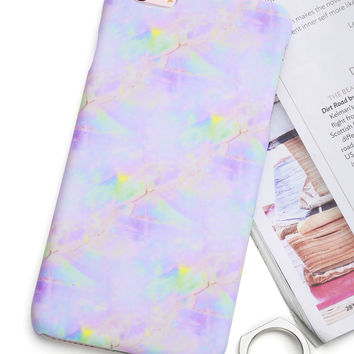 Iridescent Marble Print iPhone CaseFor Women-romwe